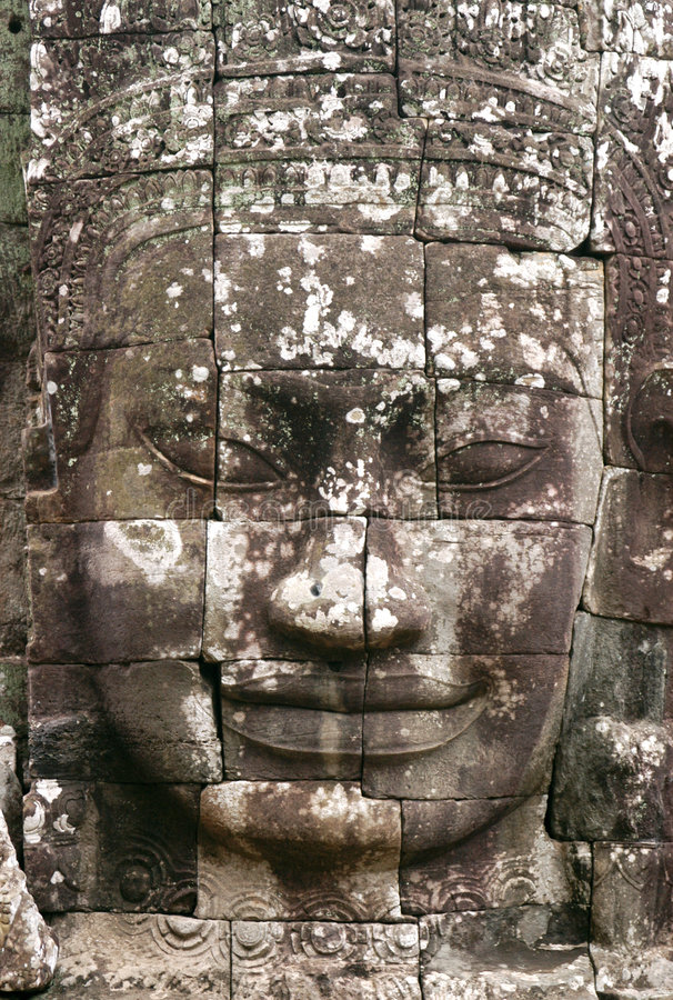 Free Angkor Stone Face Stock Photography - 1078762