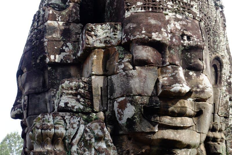 Angkor Thom, висок Bayon стоковое изображение rf