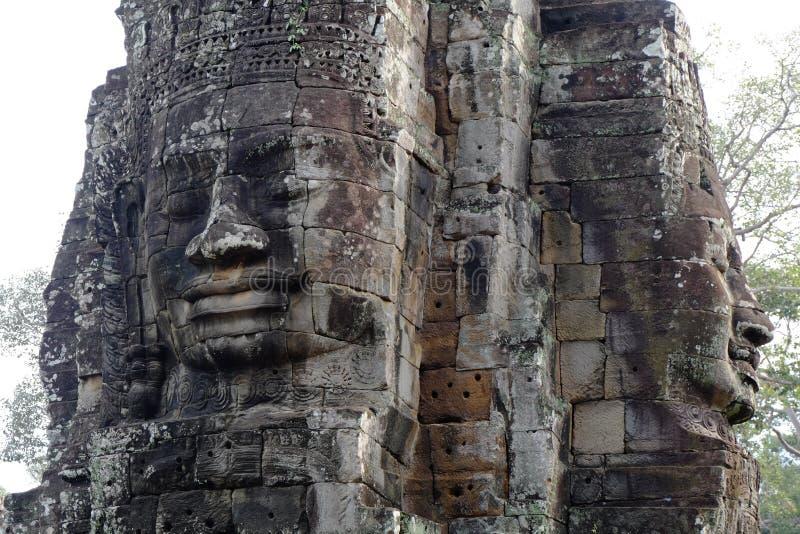 Angkor Thom, висок Bayon стоковое фото rf