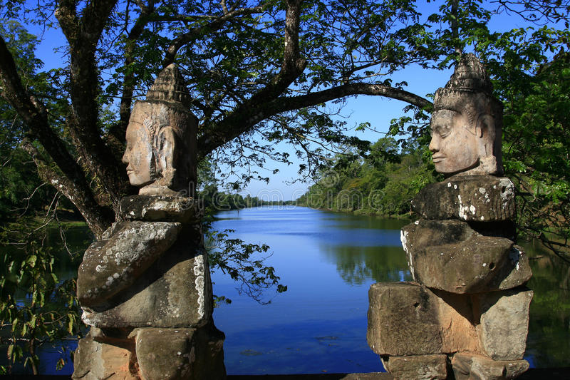 angkor thom obrazy royalty free