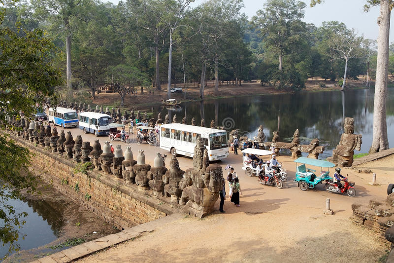 Angkor Thom royaltyfria foton