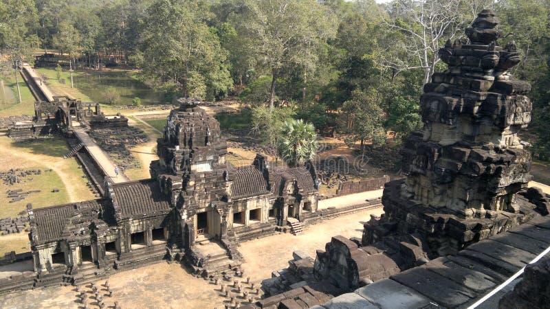 Angkor Thom - Bapuon Cambodja royaltyfri fotografi