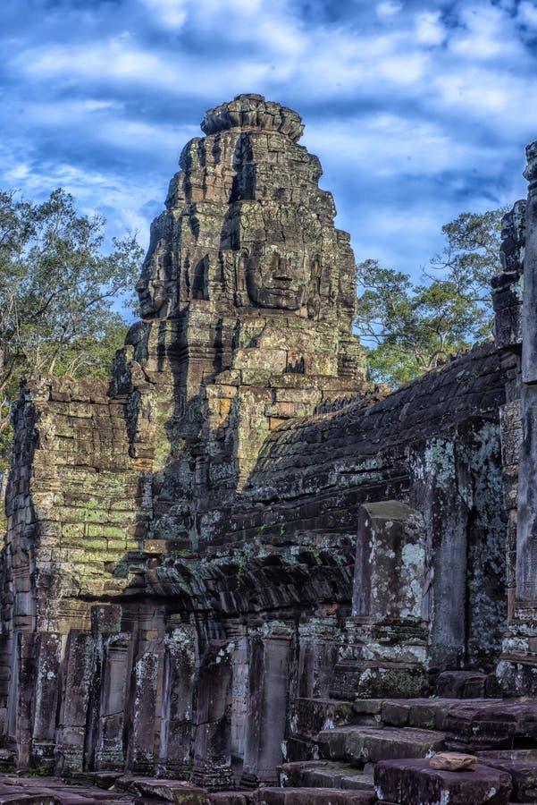 Angkor Thom - Bayon tempel arkivfoton