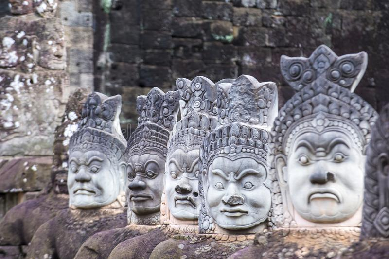 Angkor Thom Cambodja arkivbild