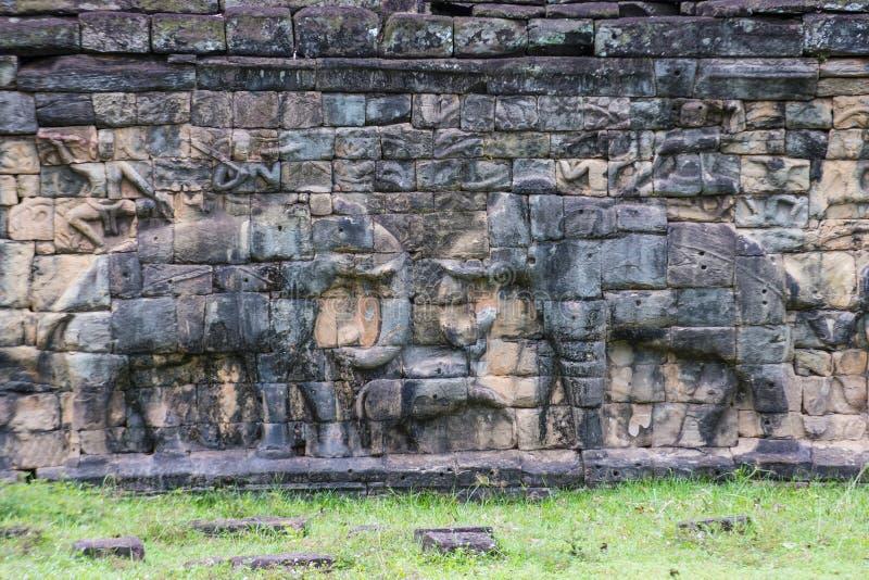 Angkor Thom Cambodja arkivbilder