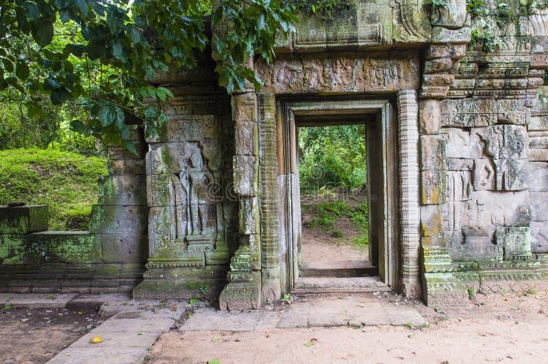 Angkor Thom Cambodja royaltyfria foton