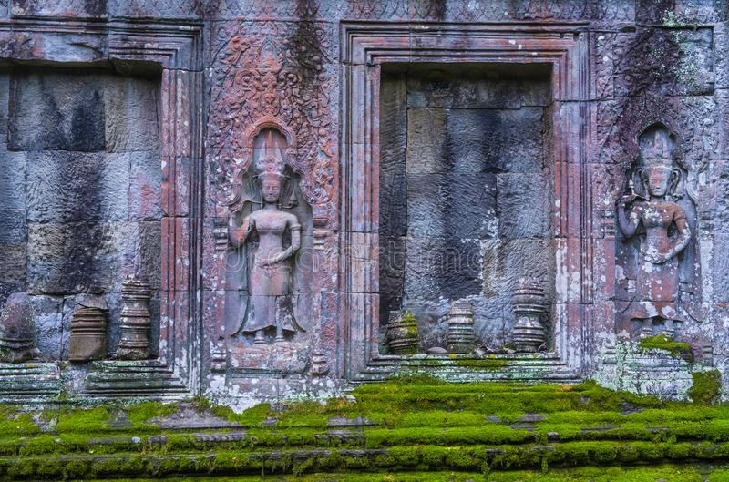 Angkor Thom Cambodja arkivfoton