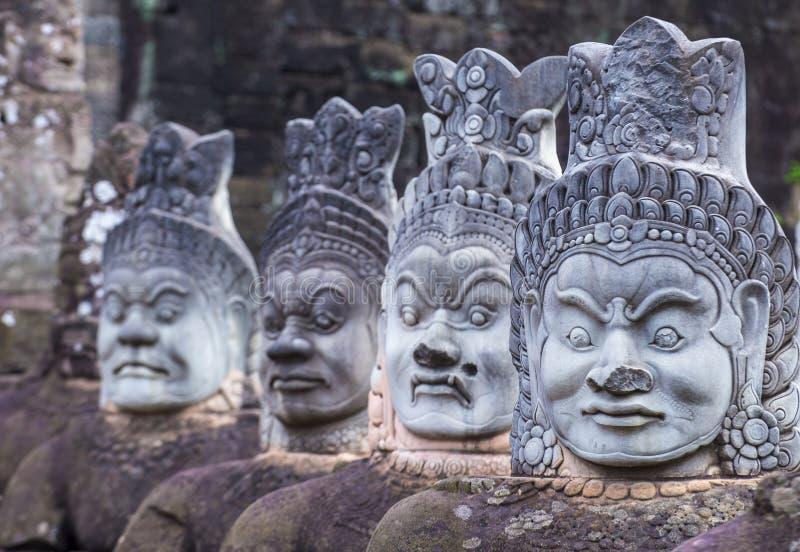 Angkor Thom Cambodja royaltyfri foto