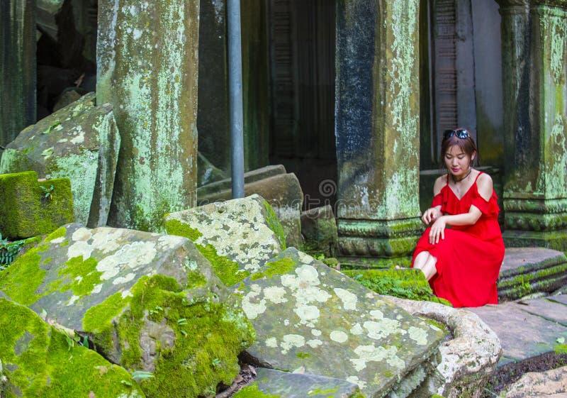 Angkor Thom Camboya foto de archivo