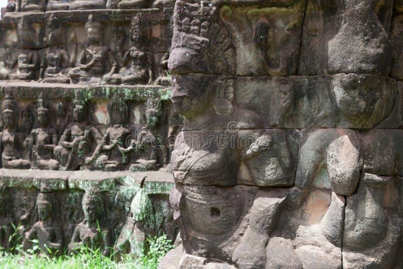 Angkor Thom, decorazione immagine stock