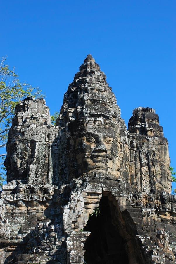 Angkor Thom gate stock photos