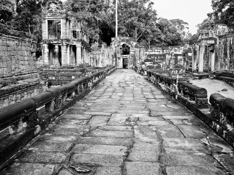 Angkor Thom hallways stock image