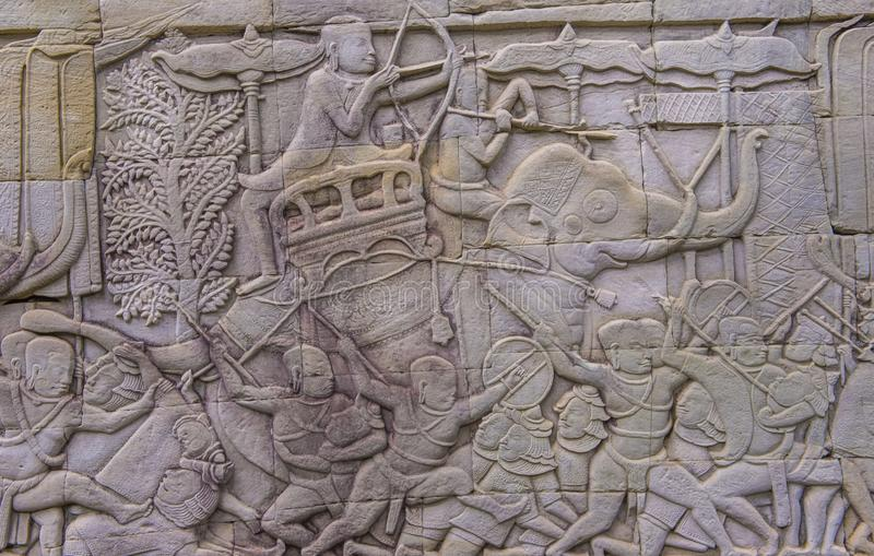 Angkor Thom Kambodża obrazy royalty free
