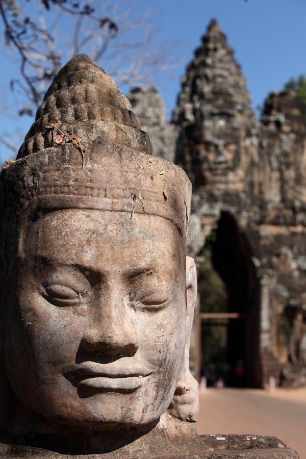 Angkor Thom in Kambodja stock fotografie