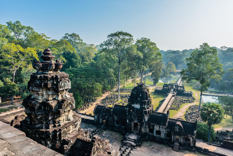 Angkor thom Kambodja van de Baphuontempel stock fotografie