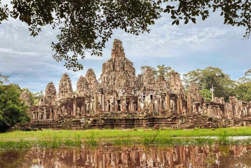Angkor Thom komplex royaltyfri bild