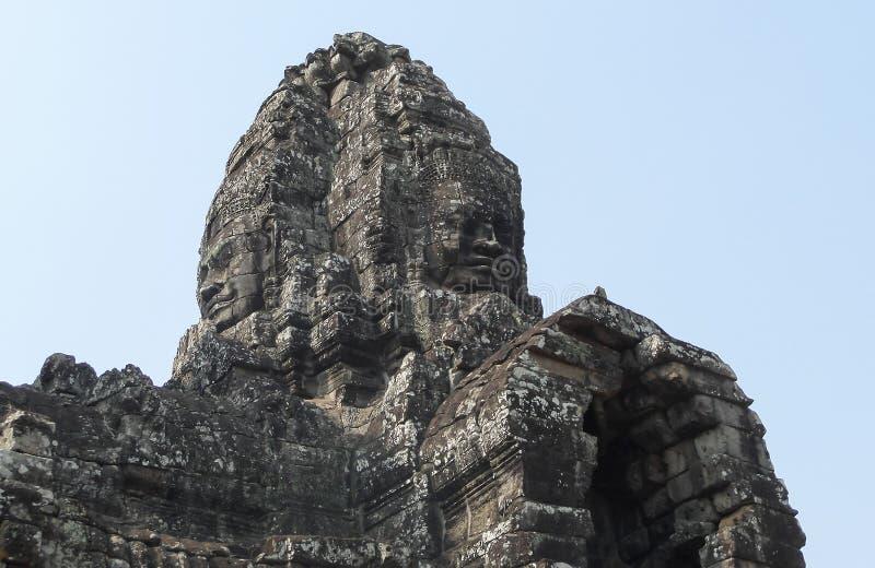Angkor Thom med att le buddha vänder mot på Angkor Wat Temple - Siem Reap, Cambodja royaltyfri bild
