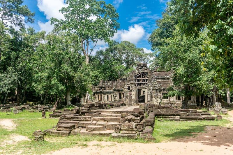 Angkor Thom nära Angkor Wa arkivbild