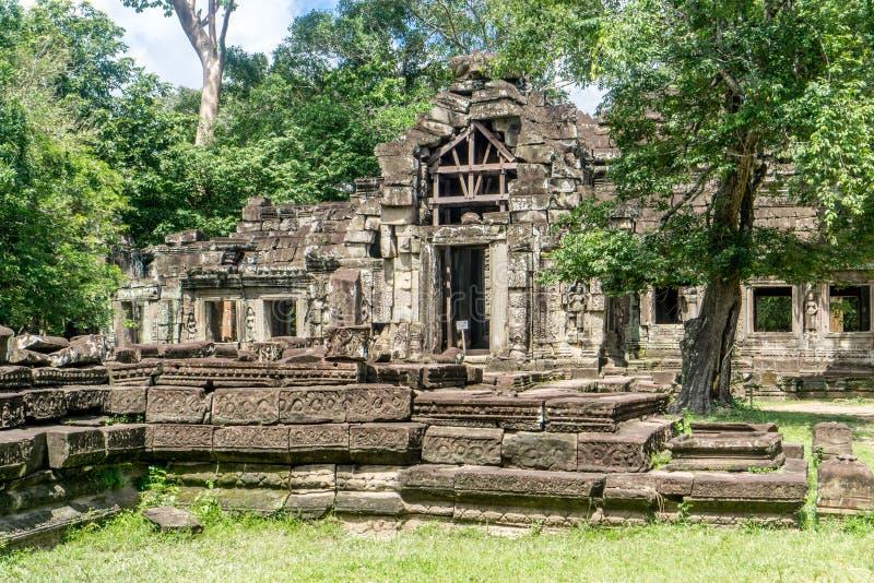 Angkor Thom nära Angkor Wa royaltyfri foto