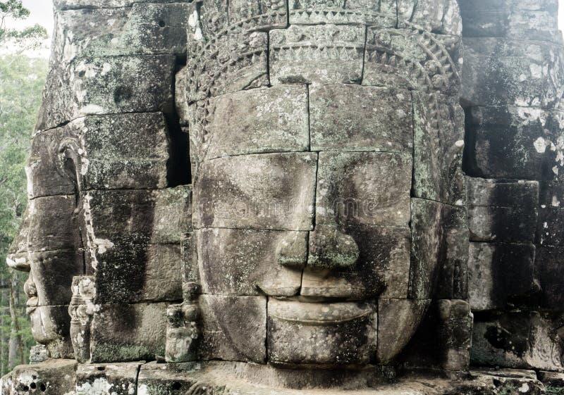 Angkor Thom nära Angkor Wa fotografering för bildbyråer