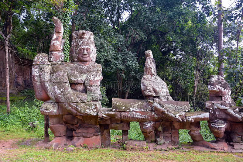 Angkor Thom North port arkivfoton