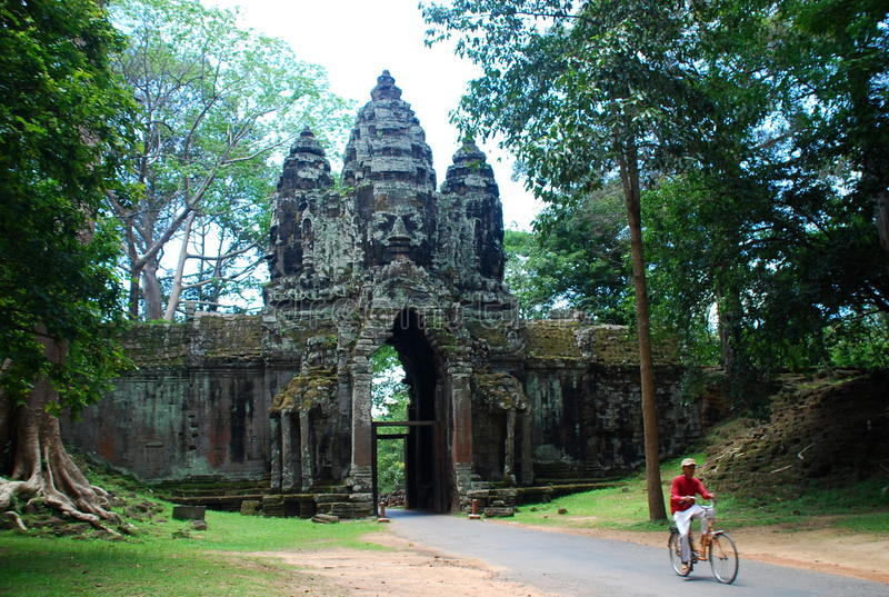 Angkor Thom Province de Siem Reap, Cambodge images stock