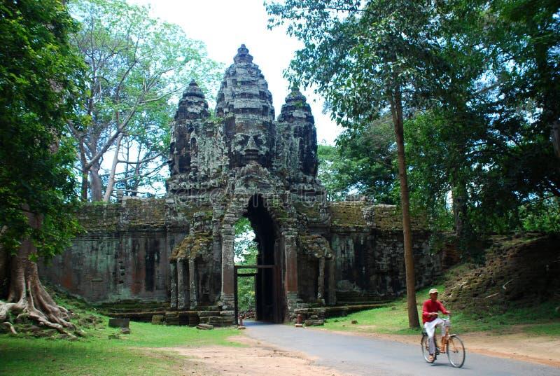 Angkor Thom Siem Reap landskap, Cambodja arkivbilder