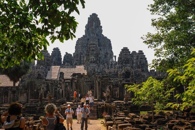 Angkor Thom, siemreap, Камбоджа стоковые изображения rf