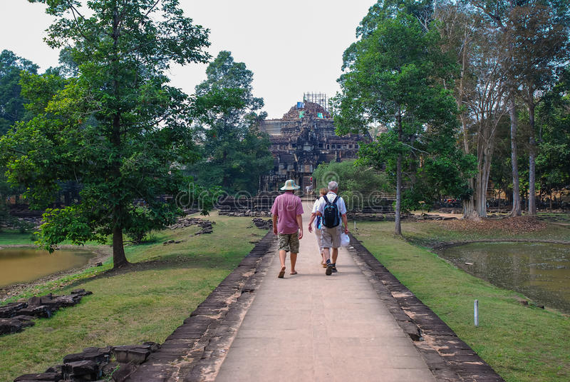 Angkor Thom, siemreap, Камбоджа стоковое фото rf