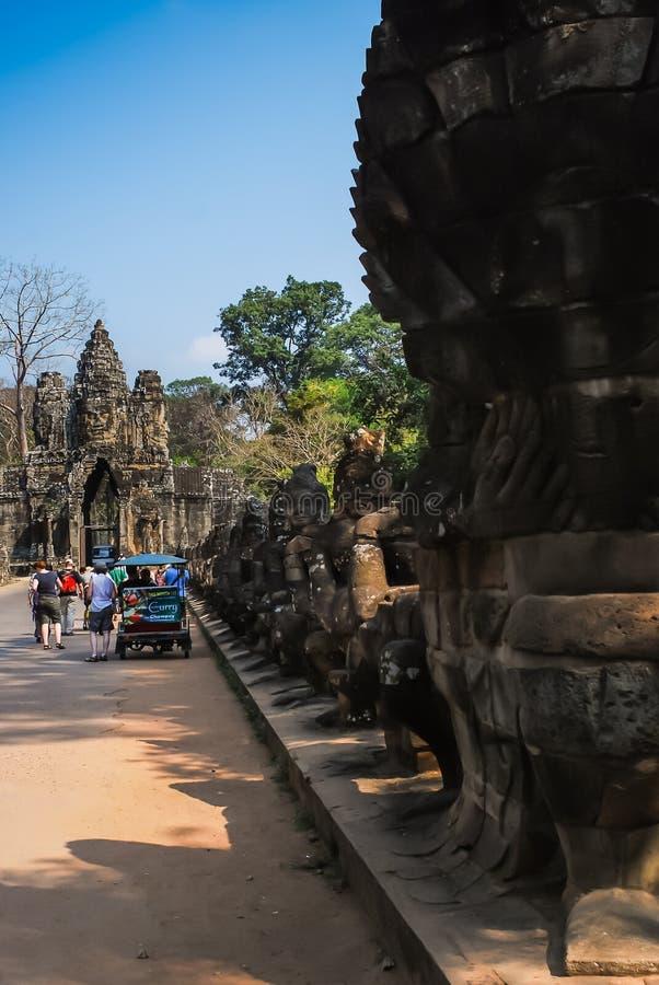 Angkor Thom, siemreap, Камбоджа стоковая фотография