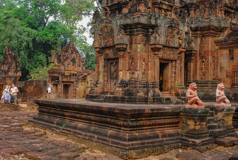 Angkor Thom, siemreap, Камбоджа стоковые фотографии rf