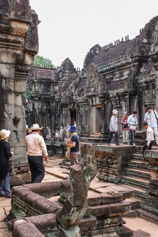 Angkor Thom, siemreap, Камбоджа стоковое изображение rf