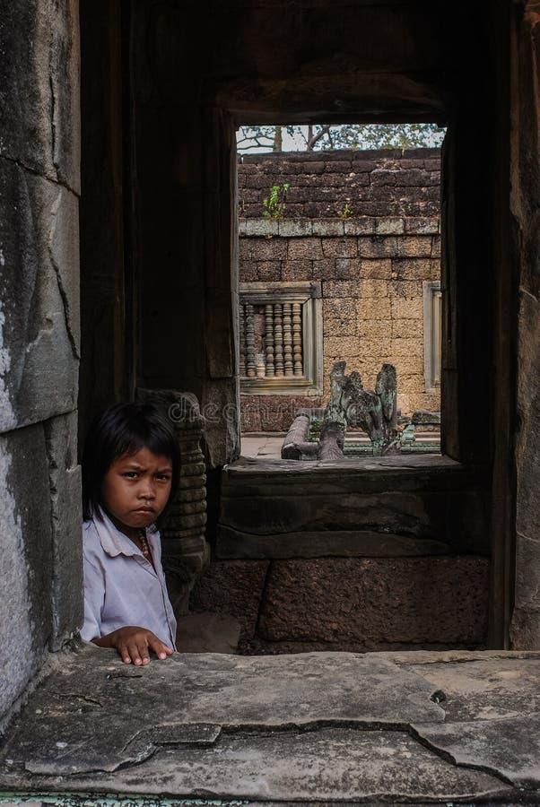 Angkor Thom, siemreap, Камбоджа стоковое фото