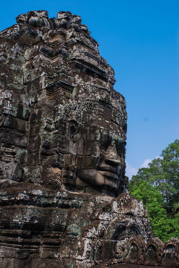Angkor Thom siemreap, Kambodja arkivbilder