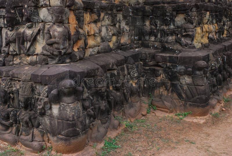 Angkor Thom siemreap, Kambodja arkivfoton