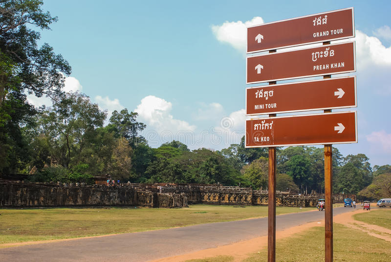 Angkor thom, siemreap, Kambodja stock foto's