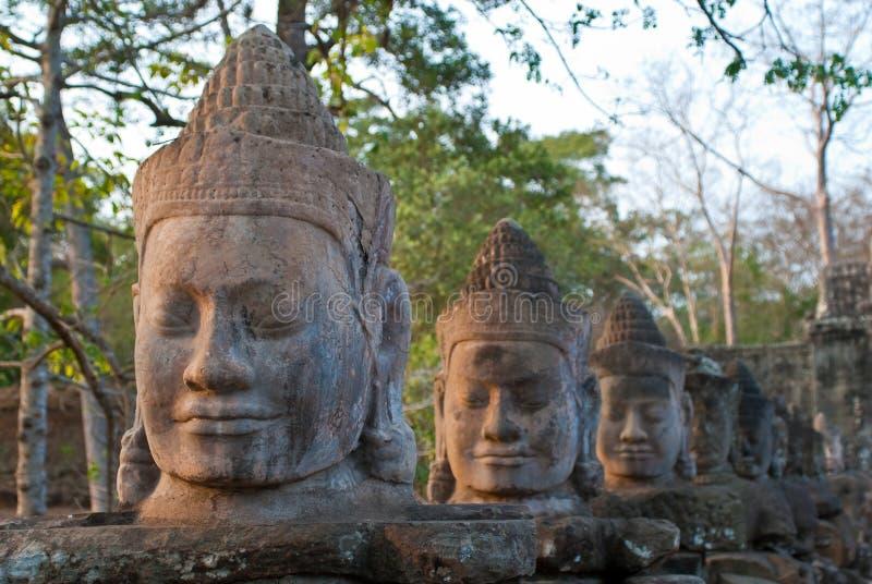 Angkor Thom South Gate faces 6 royalty free stock photo