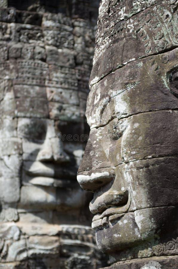 Angkor Thom statuy zdjęcia royalty free