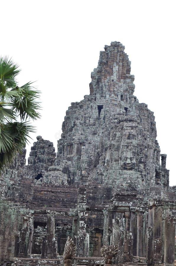 Angkor Thom tempel royaltyfri fotografi
