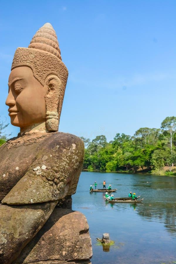 Angkor Thom tempel i Siem Reap, Cambodja arkivfoto