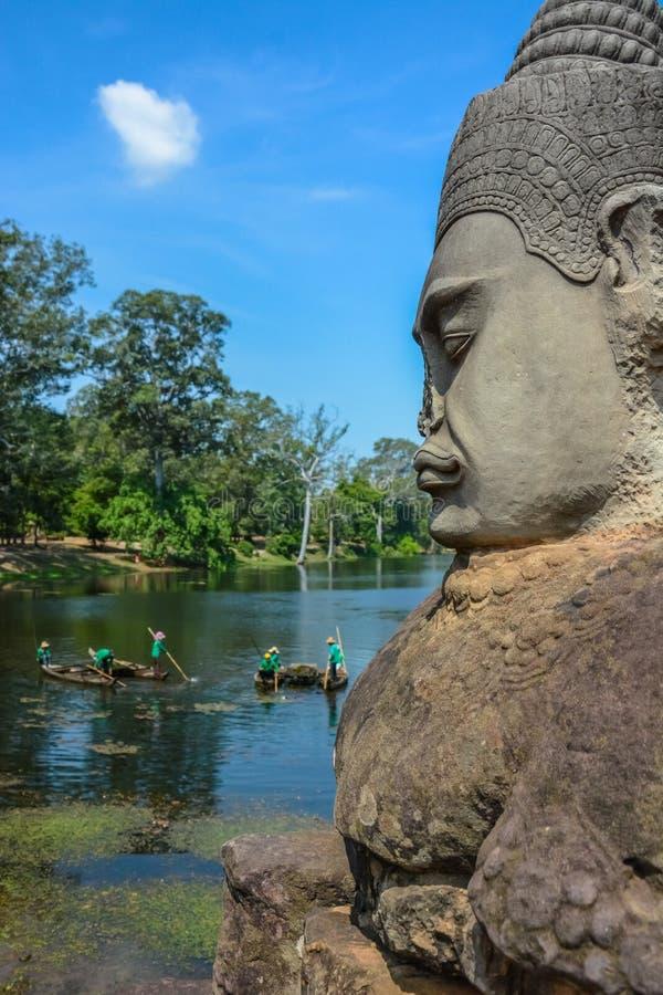 Angkor Thom tempel i Siem Reap, Cambodja royaltyfri fotografi