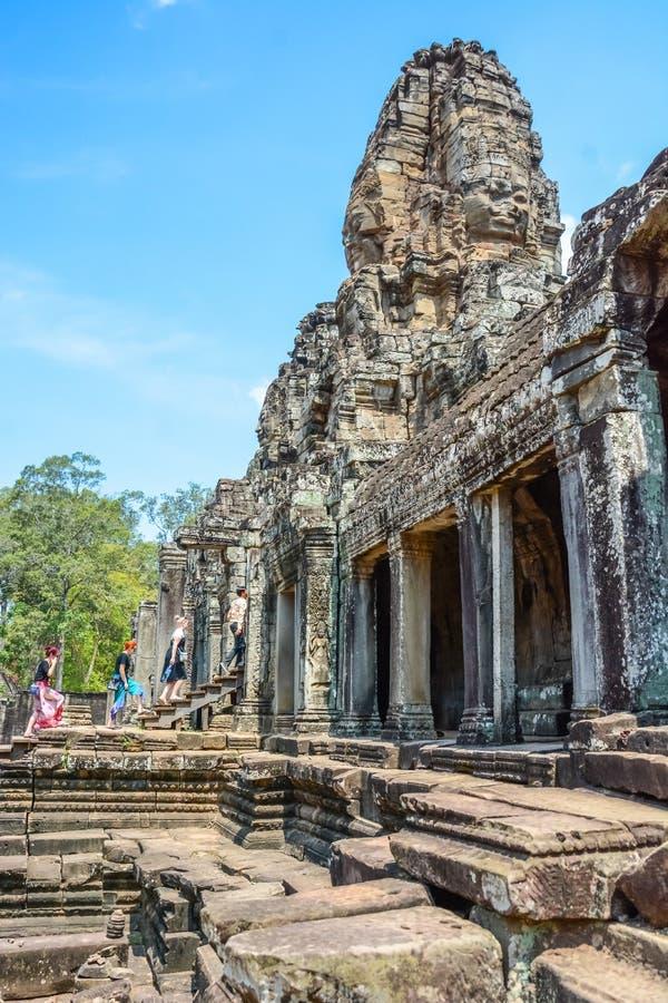 Angkor Thom tempel i Siem Reap, Cambodja fotografering för bildbyråer