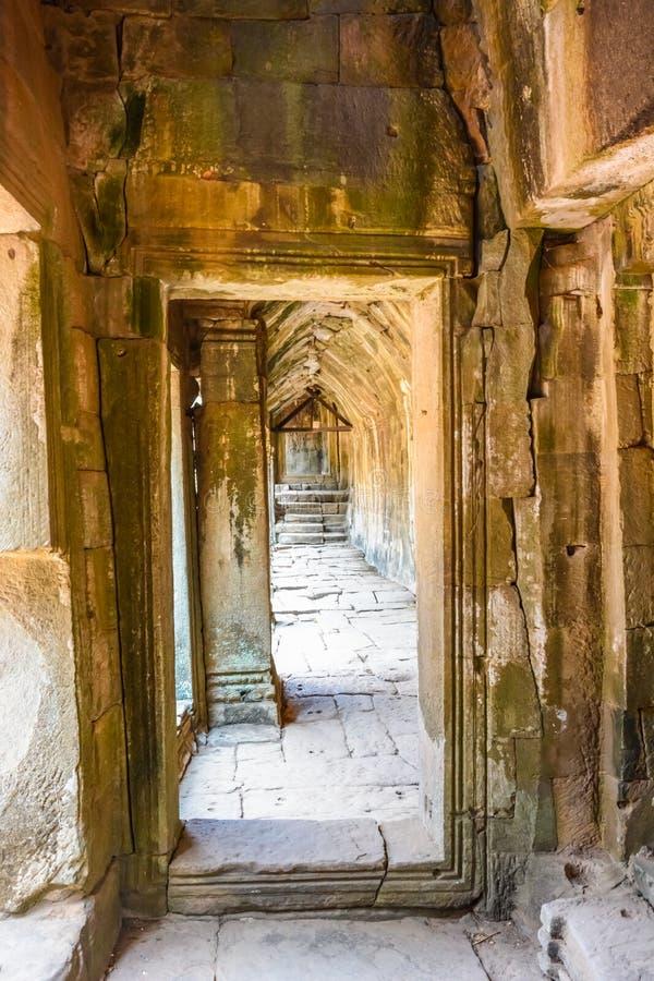Angkor Thom tempel i Siem Reap, Cambodja royaltyfri foto