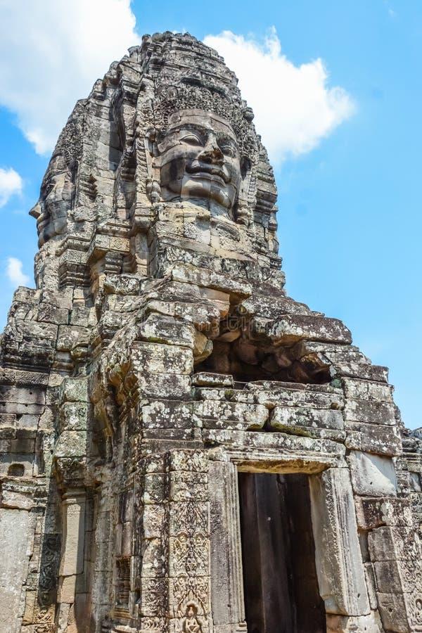 Angkor Thom tempel i Siem Reap, Cambodja royaltyfria bilder