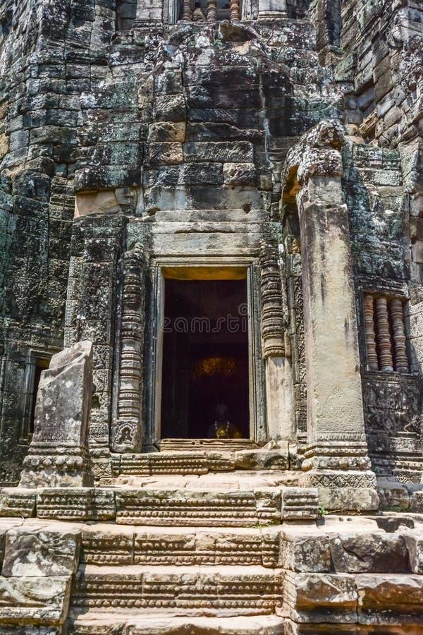 Angkor Thom tempel i Siem Reap, Cambodja royaltyfria foton