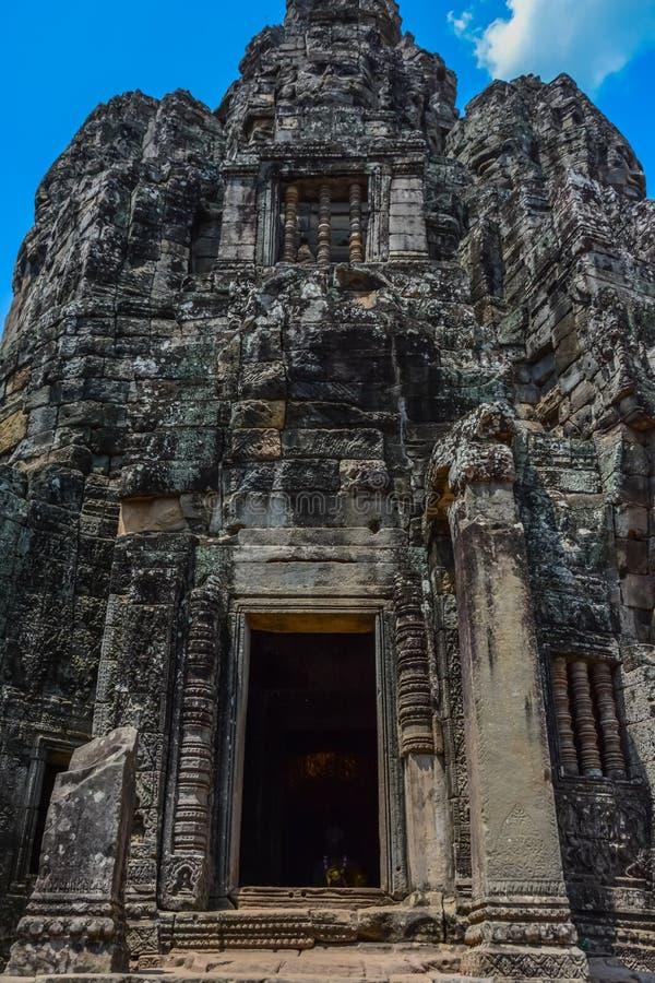 Angkor Thom tempel i Siem Reap, Cambodja arkivfoton