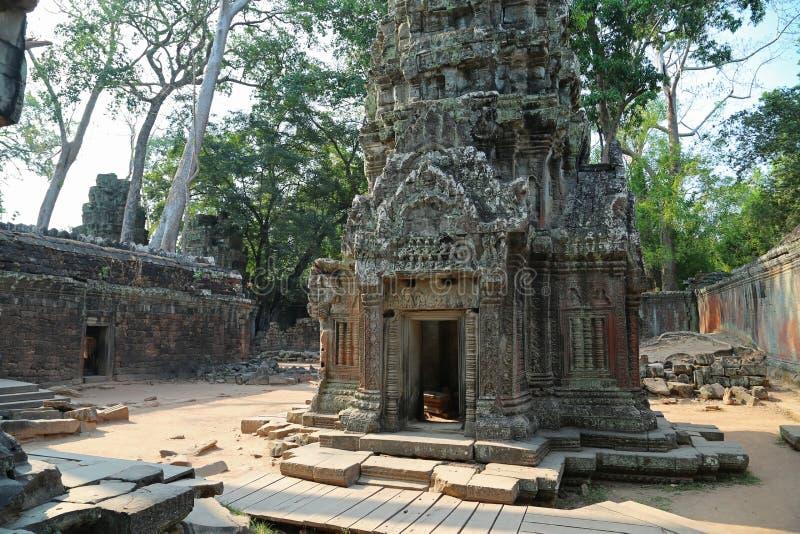 Angkor Thom tempelkomplex, Cambodja arkivfoto