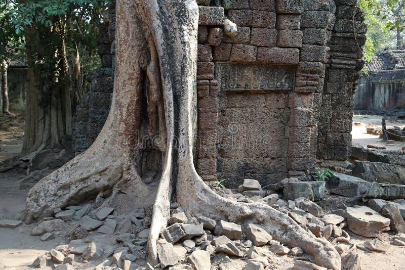Angkor Thom tempelkomplex, Cambodja arkivbilder