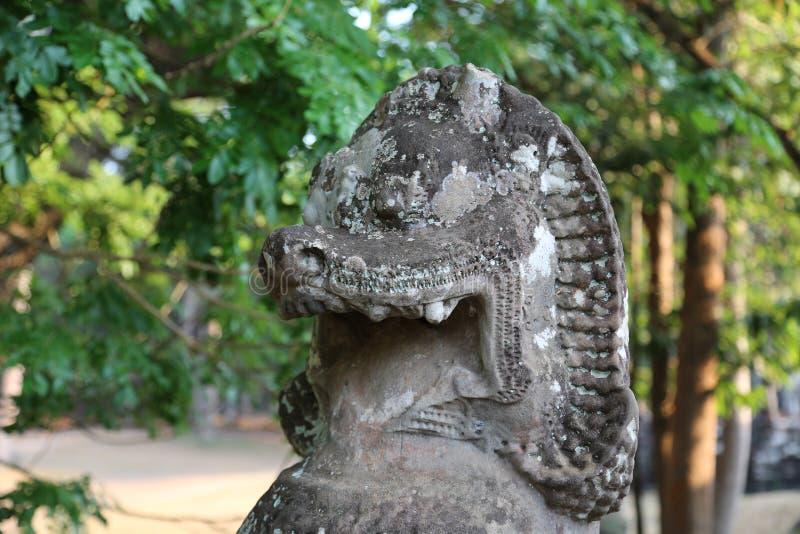 Angkor Thom tempelkomplex, Cambodja arkivfoton