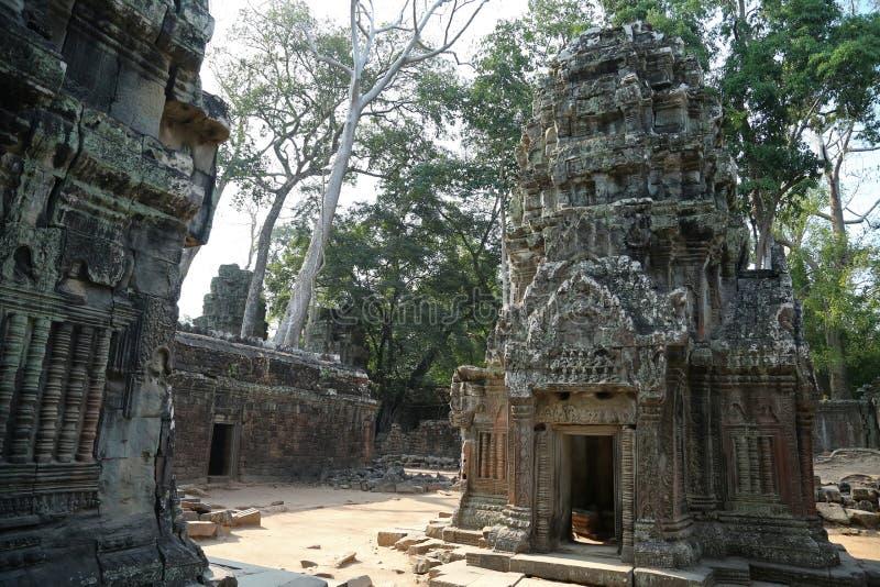 Angkor Thom tempelkomplex, Cambodja fotografering för bildbyråer